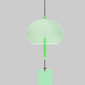 ガラス風鈴緑