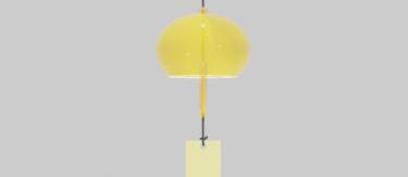 ガラス風鈴黄色