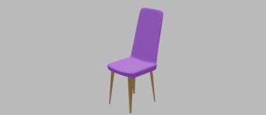 ダイニングチェア紫