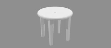 ガーデンテーブルホワイト