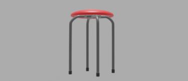 パイプ椅子丸型