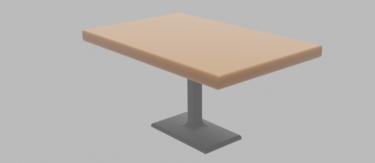 一本脚テーブル