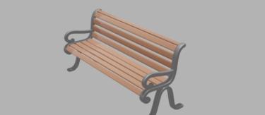 ひじ掛けベンチ