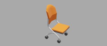 オフィスチェアオレンジ色
