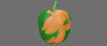 まだらなパプリカオレンジ