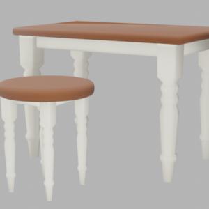 レトロな作業机と椅子セット