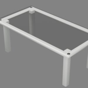 ガラスソファーテーブル