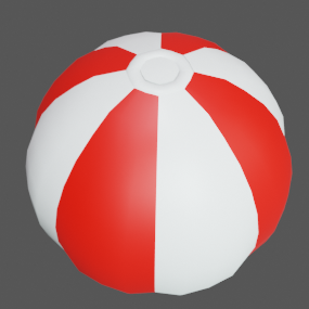 ビーチボール赤