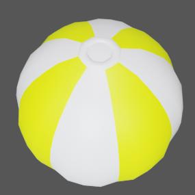 ビーチボール黄色