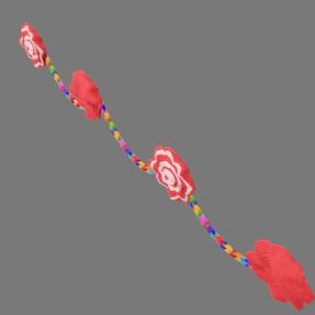 紙花と紙輪っか赤色