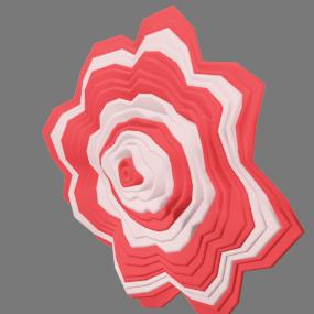 赤白の紙花