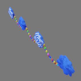 紙花と紙輪っか青色