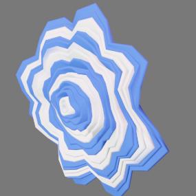 青色い紙花