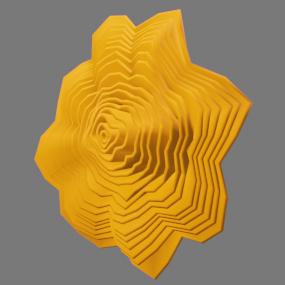 オレンジ色の紙花