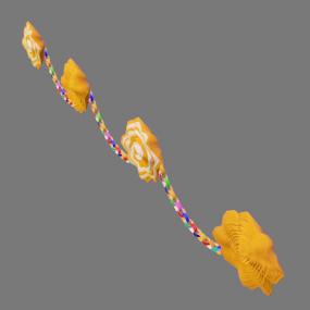 紙花と紙輪っかオレンジ色