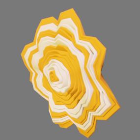 オレンジ色白色の紙花