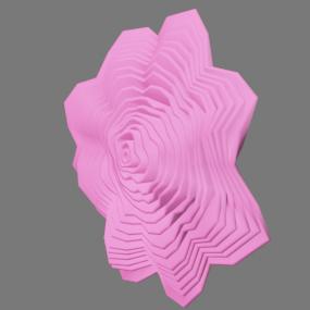 ピンク色の紙花