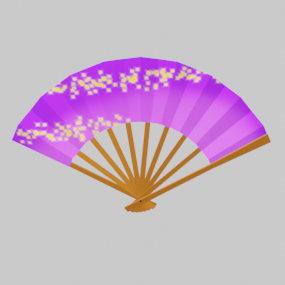 紫の扇子(せんす)