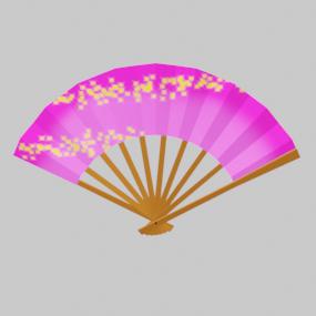 ピンク色の扇子(せんす)