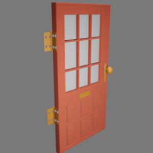 レトロな扉