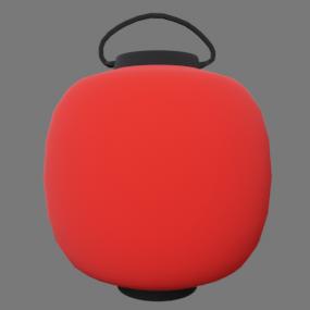 赤い丸型の提灯(ちょうちん)