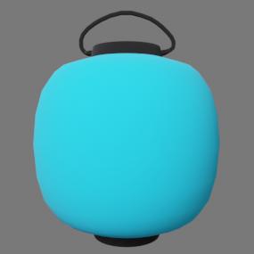 青い丸型の提灯(ちょうちん)