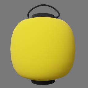 黄色い丸型の提灯(ちょうちん)