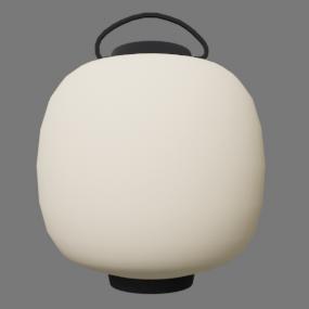 白い丸型の提灯(ちょうちん)