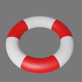 赤白浮き輪