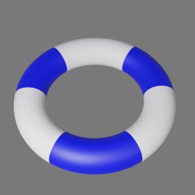青白浮き輪