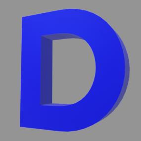 アルファベット「D」