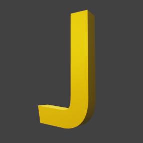 アルファベット「J」