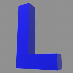 アルファベット「L」