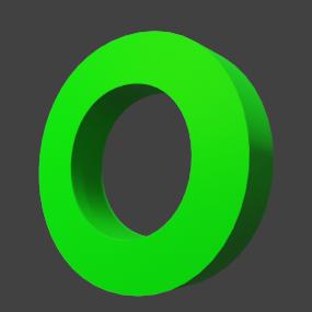 アルファベット「O」