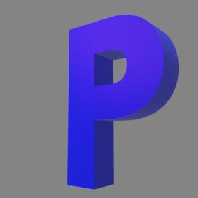 アルファベット「P」