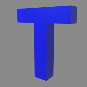 アルファベット「T」
