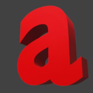 アルファベット「a」
