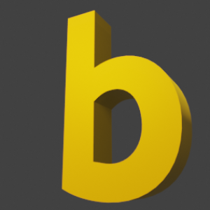 アルファベット「b」