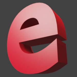 アルファベット「e」