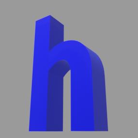 アルファベット「h」
