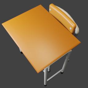 学校机と椅子