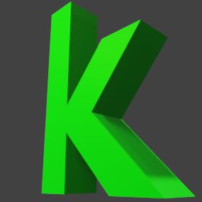 アルファベット「k」