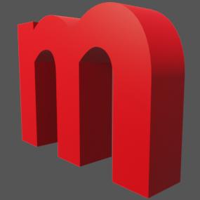 アルファベット「m」