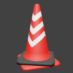 反射シール付き三角コーン